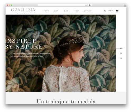 Tonda WordPress theme - graellsiamadrid.com