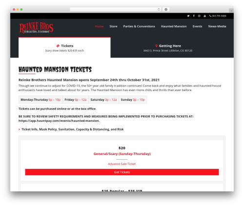 VenueX WordPress ecommerce theme - reinkebrothers.com
