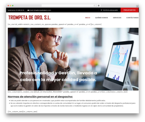 WordPress theme FO - trompetadeoro.com