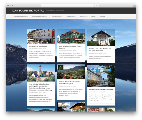 WordPress theme Pinable - gruppentouristik.net