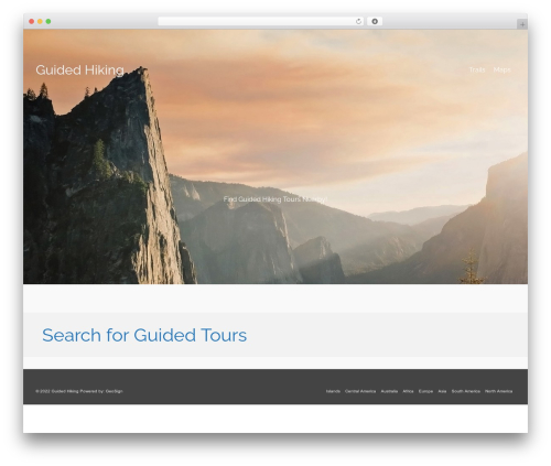 WordPress theme Pinnacle - guidedhikingtours.com
