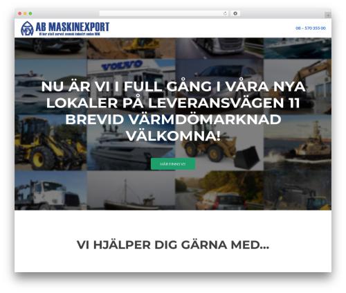 WordPress website template Zelle Lite - maskinexport.se