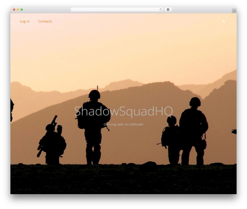 Adonis WordPress theme design - shadowsquadhq.com