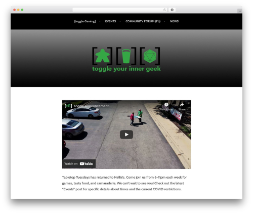 Argent WordPress theme - togglegaming.com