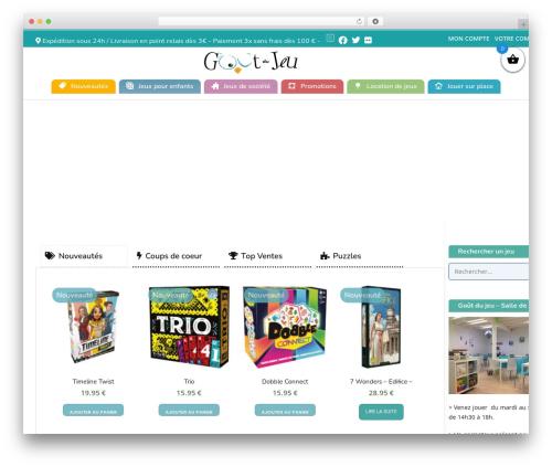 Best WordPress template Conica - goutdujeu.fr