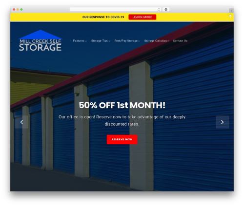 Businessx WordPress store theme - millcreekstorage.com