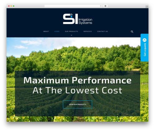 Caldera premium WordPress theme - si-irrigation.com