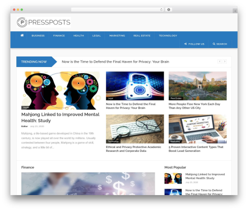 Codilight WordPress magazine theme - pressposts.com