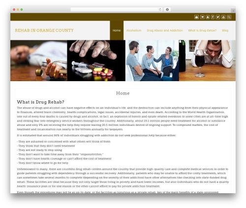 Creative Agency premium WordPress theme - rehabinorangecounty.com