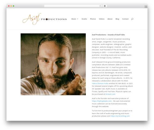 Divi theme WordPress - asafproductions.com