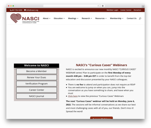 Divi theme WordPress - nasci.org