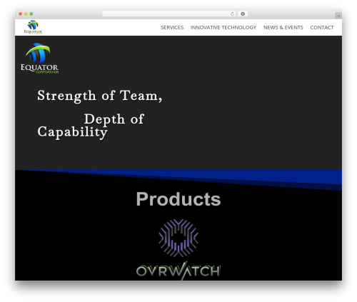 Divi theme WordPress - equatorcorporation.com