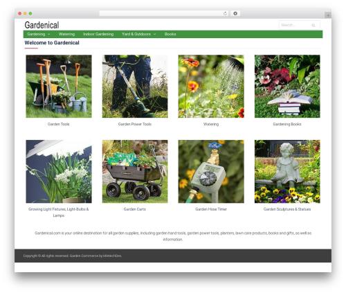 Easy Commerce best free WordPress theme - gardenical.com
