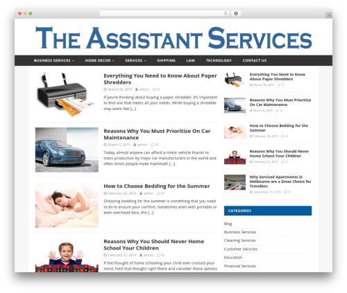 Financial News WordPress theme - theassistantservices.com