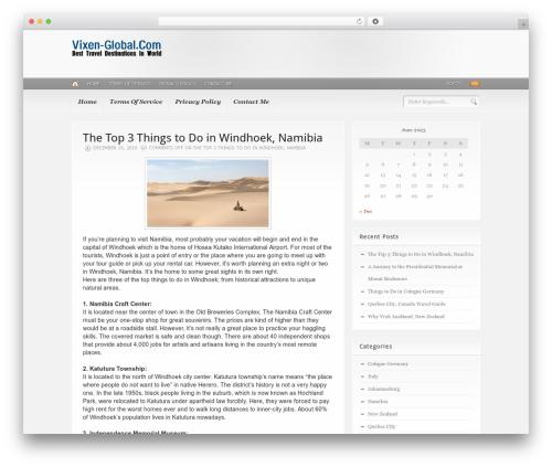 Headlines (Provided by Zazavy.com) WordPress blog template - vixen-global.com