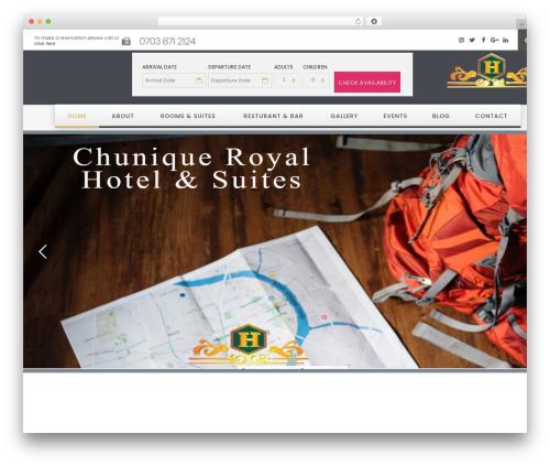 Hotella WordPress theme - chuniqueroyalhotel.com