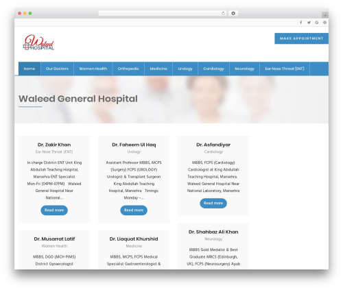 InMedical medical WordPress theme - waleedhospital.com
