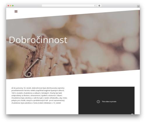 Oblique free WordPress theme - kmsz.cz