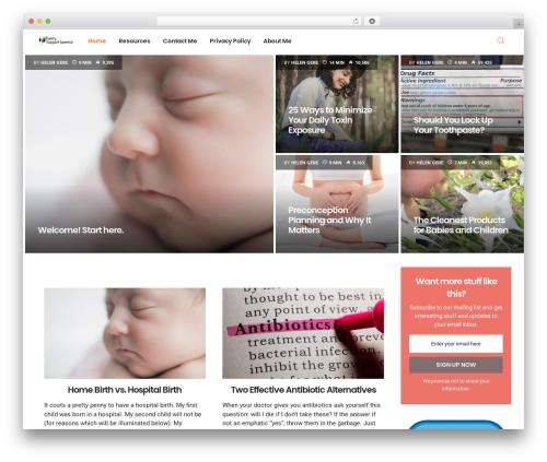 PassionBlogger top WordPress theme - familysupportamerica.org
