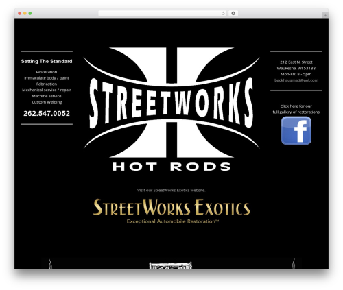 Pure Simple Pro WordPress theme design - streetworkshotrods.com