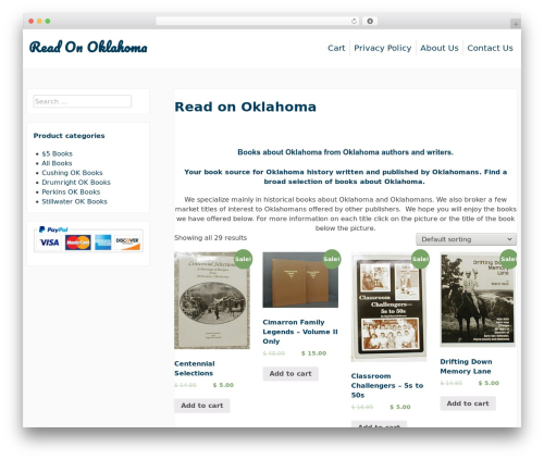 purelyShopping WordPress ecommerce theme - readonoklahoma.com