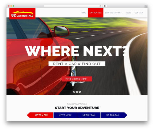 RentIt automotive WordPress theme - u2carhirecyprus.com