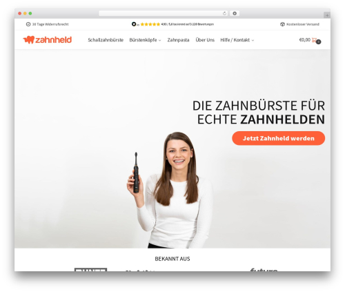 Shoptimizer WordPress shop theme - zahnheld.de
