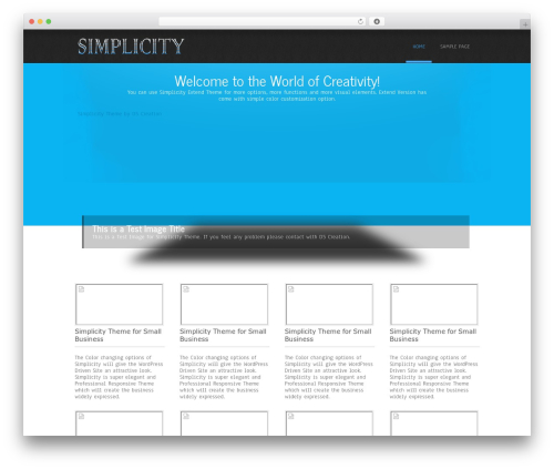Simplicity Lite WordPress theme - garner.technology
