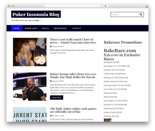 Stucco free WordPress theme - pokerinsomnia.com
