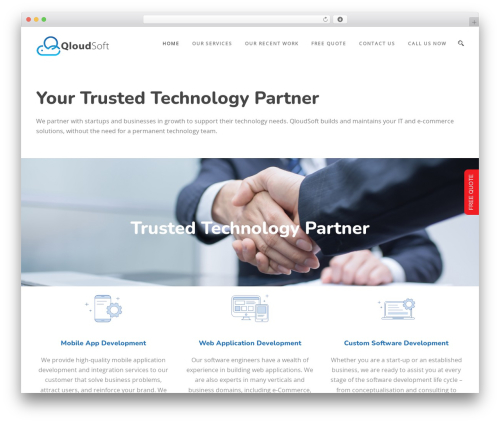 TotalBusiness business WordPress theme - qloudsoft.com