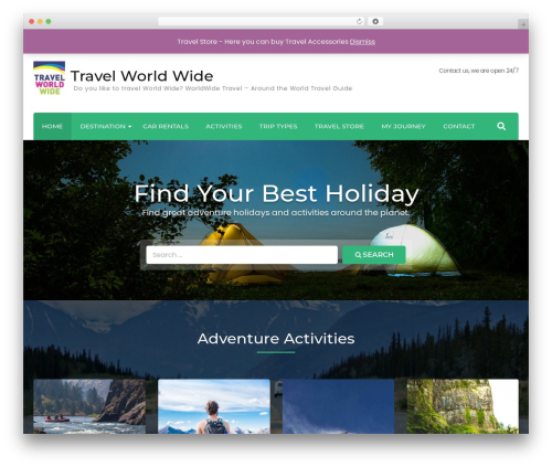 Free WordPress Travel Agency Companion plugin - traveledenworld.com