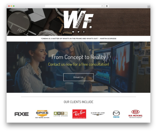 Type Plus WordPress website template - warshawfilms.com