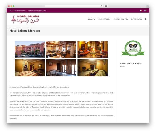 Ultra theme WordPress - hotelsalama.com