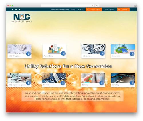 WordPress theme Avada - nationalutilitygroup.com