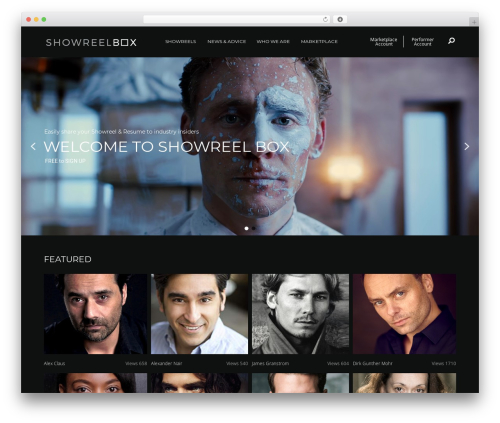 WordPress theme Blank Theme - showreelbox.com