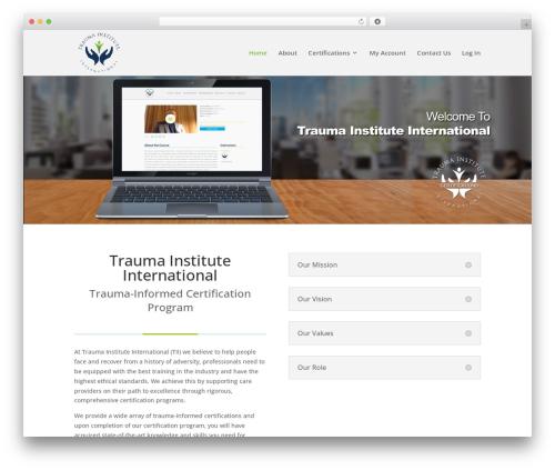 WordPress theme Divi - traumainstituteinternational.com