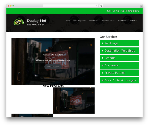 WordPress theme DJ - deejaymot.com