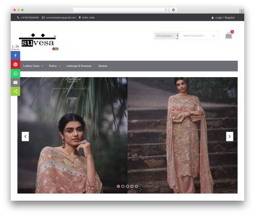 WordPress theme Easy Commerce - suvesaindia.com