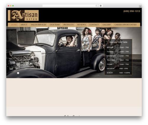 WordPress theme SKT Cutsnstyle Pro - artisan-salon.com