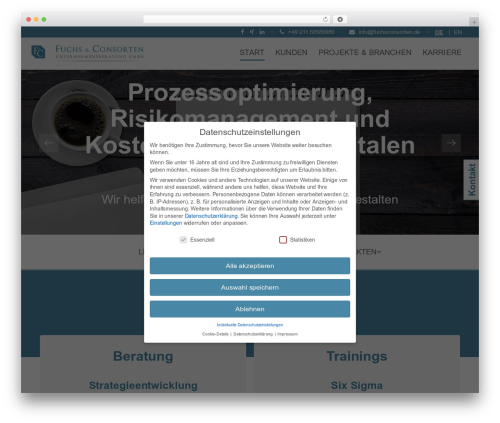 WordPress theme Unova - fuchsconsorten.de