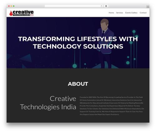 WordPress website template Zelle Lite - ctigoa.com