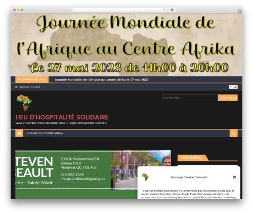 Best WordPress theme Eggnews - centreafrika.com
