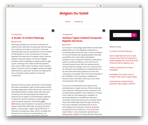 Bootstrap Blog WordPress blog theme - belgiansdusoleil.com