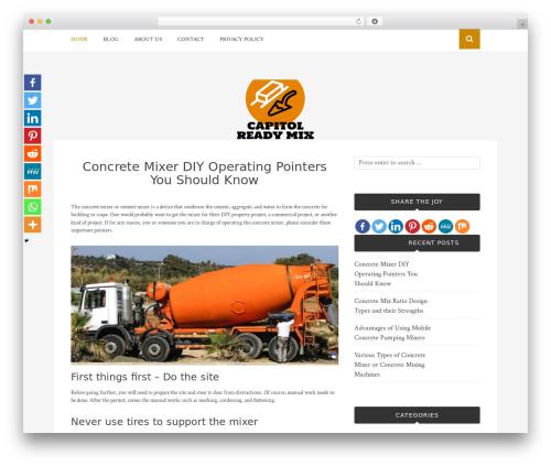 Bulan theme WordPress free - capitolreadymix.com