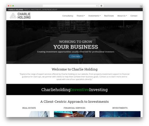 Charlie WP template - charlieholding.com