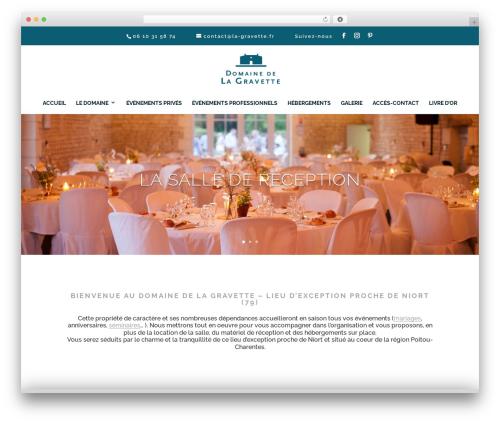 Divi WordPress theme design - la-gravette.fr