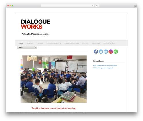 Fresh & Clean WordPress theme - dialogueworks.co.uk