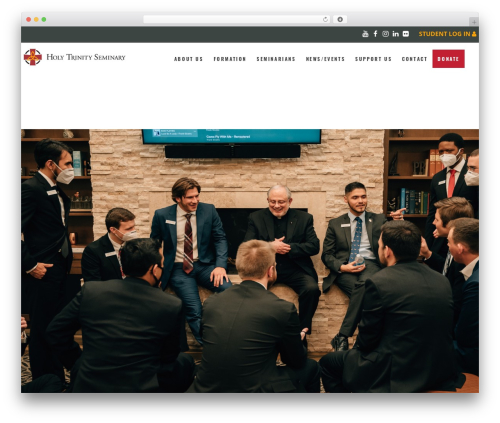 Holy Church best WordPress theme - holytrinityseminary.org