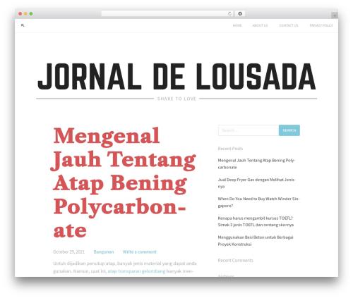 Jason Lite WordPress theme - jornaldelousada.com