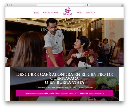 Jupiter best restaurant WordPress theme - cafealondra.com